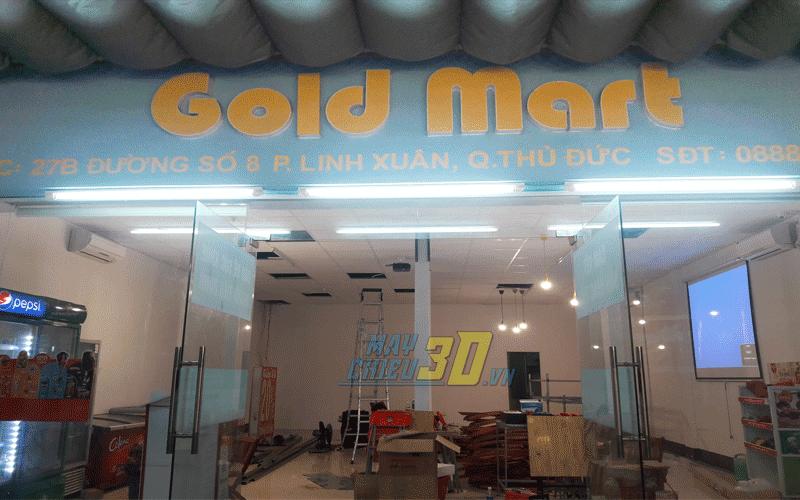 Lắp đặt máy chiếu bóng đá cho Gold Mart tại Linh Xuân, Q. Thủ Đức